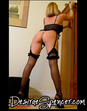 Black Garters and Silky Sheer Stockings